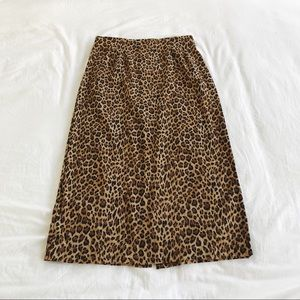 Briggs New York Long Cheetah Skirt